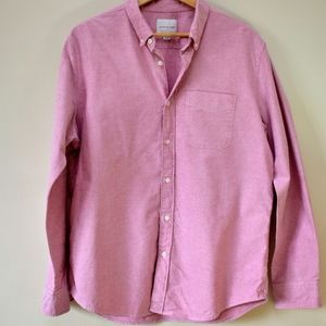 American eagle salmon button down oxford shirt